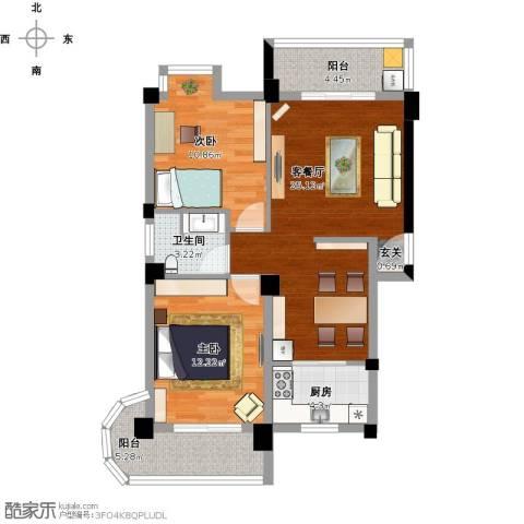 新澳蓝草坪2室1厅1卫1厨95.00㎡户型图