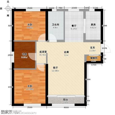 海昌天澜3室0厅1卫1厨108.00㎡户型图