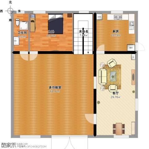 东方丽都花苑1室1厅1卫1厨180.00㎡户型图