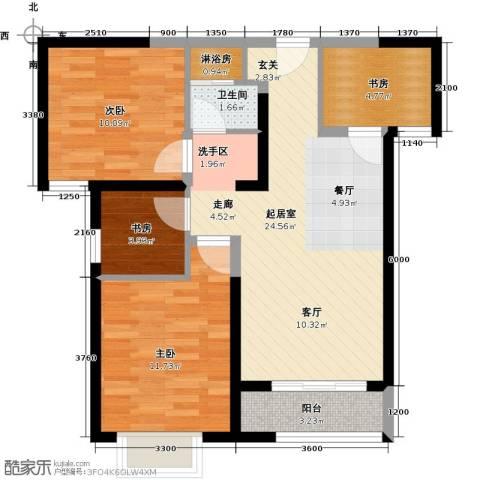 宜禾红橡公园4室0厅1卫0厨90.00㎡户型图