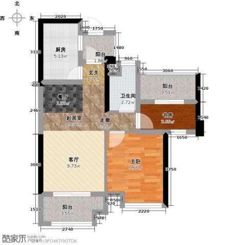 正荣・财富中心2室0厅1卫1厨68.00㎡户型图