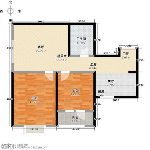 观锦2室0厅1卫0厨82.00㎡户型图