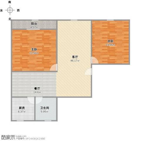 清涧三街坊2室1厅1卫1厨140.00㎡户型图