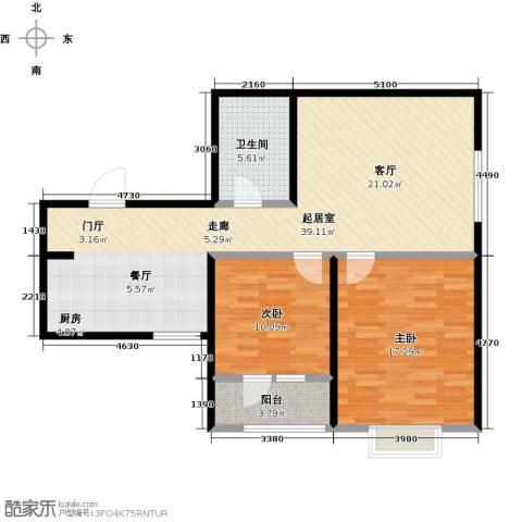观锦2室0厅1卫0厨85.00㎡户型图