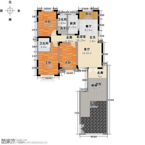 宜禾红橡公园3室0厅2卫1厨135.00㎡户型图