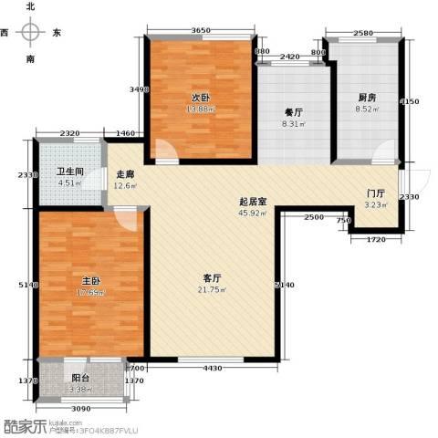 观锦2室0厅1卫1厨105.00㎡户型图