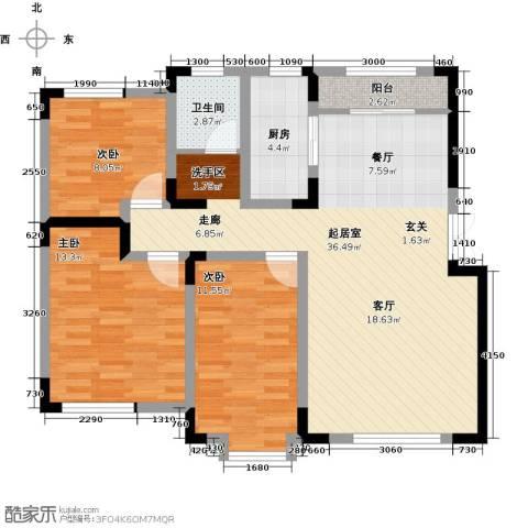 宜禾红橡公园3室0厅1卫1厨110.00㎡户型图