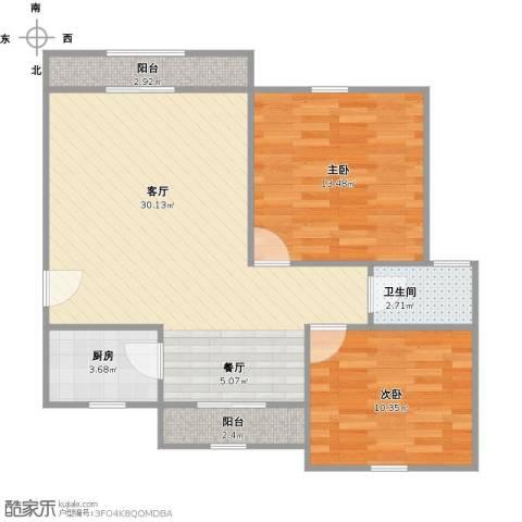 好日子大家园2室1厅1卫1厨89.00㎡户型图