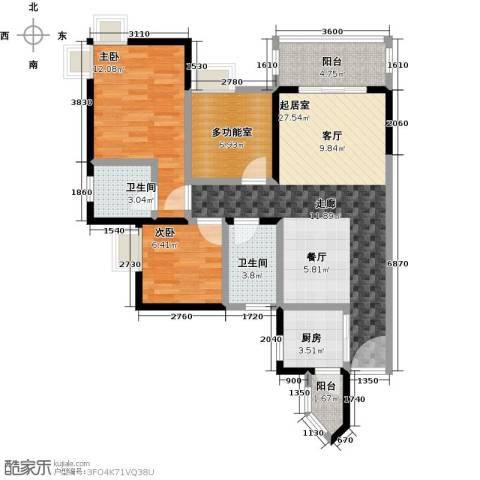 海悦湾2室0厅2卫1厨89.00㎡户型图