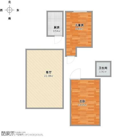 府和苑2室1厅1卫1厨67.00㎡户型图