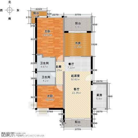 山林君悦3室0厅2卫1厨141.00㎡户型图
