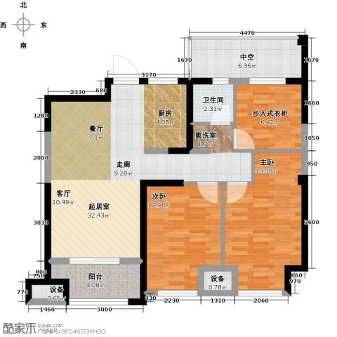 金科中心2室0厅1卫0厨90.00㎡户型图
