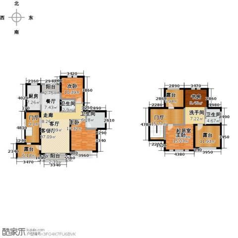 绿地大溪地2室1厅3卫1厨195.00㎡户型图