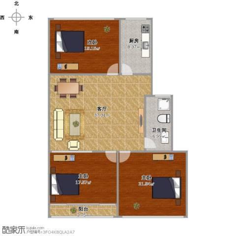 新龙科技园3室1厅1卫1厨152.00㎡户型图