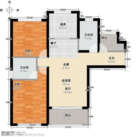 中科苑2室0厅2卫1厨115.00㎡户型图