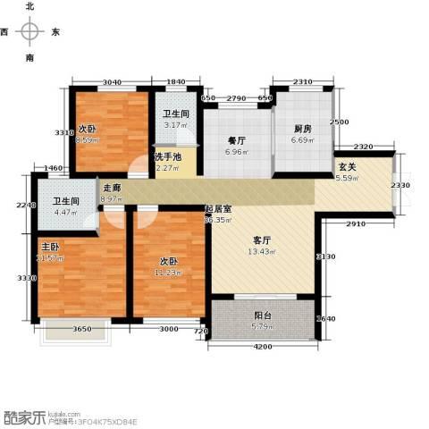 兰田首府3室0厅2卫1厨120.00㎡户型图