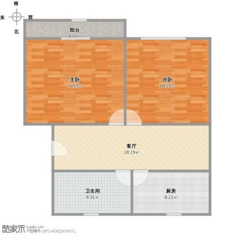 林梅新村2室1厅1卫1厨84.31㎡户型图