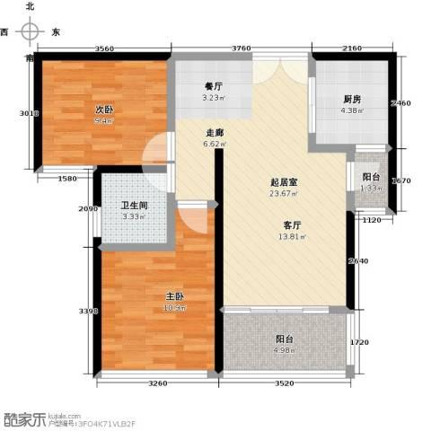海悦湾2室0厅1卫1厨84.00㎡户型图