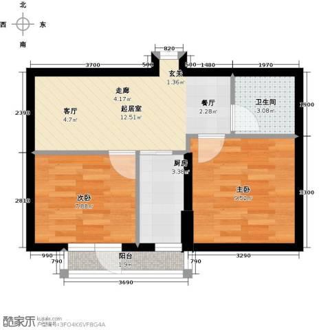 山海公园2室0厅1卫1厨61.00㎡户型图