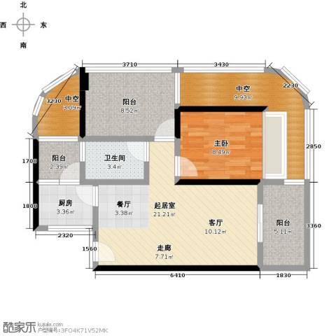 海悦湾1室0厅1卫1厨69.00㎡户型图