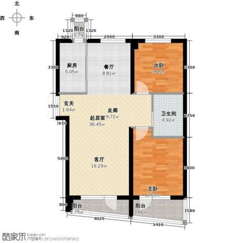 山海公园2室0厅1卫1厨97.00㎡户型图