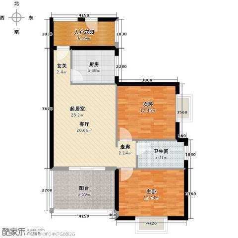翡翠经典2室0厅1卫1厨108.00㎡户型图