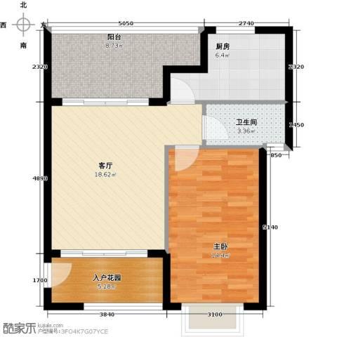 翡翠经典1室1厅1卫1厨81.00㎡户型图