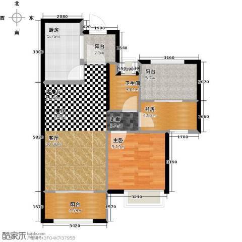 正荣・财富中心2室1厅1卫1厨68.00㎡户型图