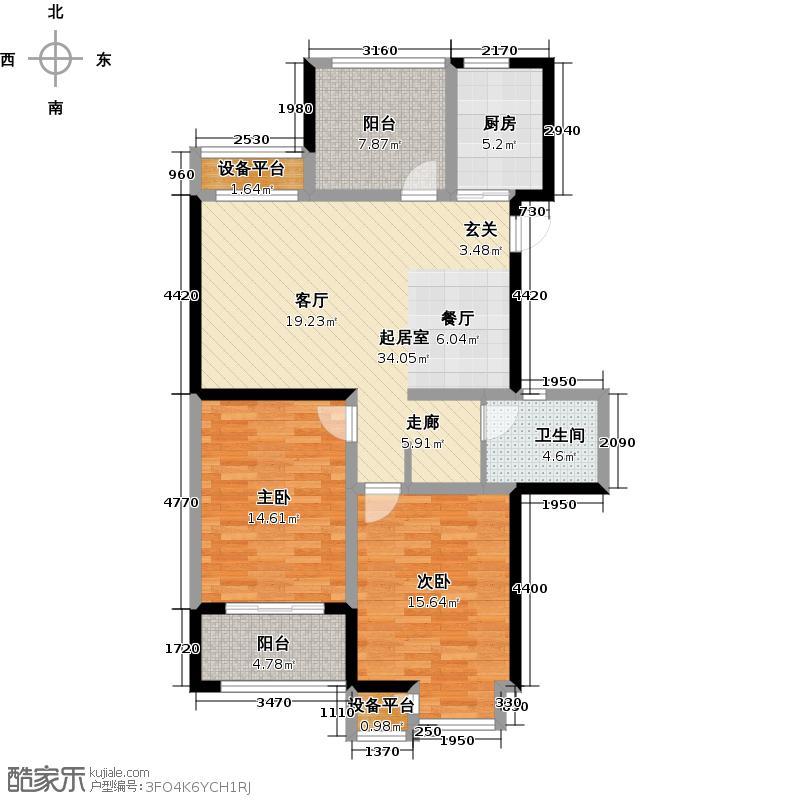香树湾馨苑103.00㎡103㎡A户型3室2厅1卫