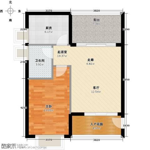 翡翠经典1室0厅1卫1厨78.00㎡户型图