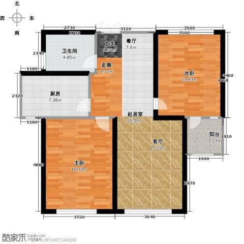 中科苑2室0厅1卫1厨105.00㎡户型图
