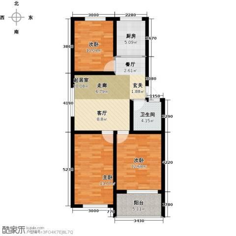 恒信阳光新城3室0厅1卫1厨97.00㎡户型图