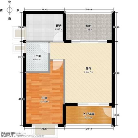 翡翠经典1室1厅1卫1厨77.00㎡户型图