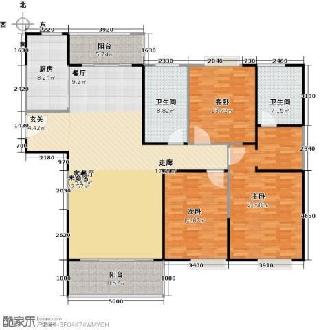 正元怡居3室1厅2卫1厨156.00㎡户型图