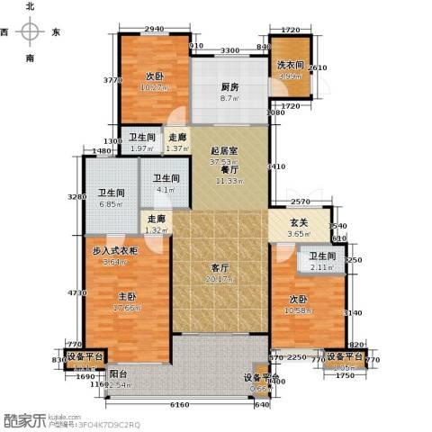 万科大明宫3室0厅4卫1厨161.00㎡户型图