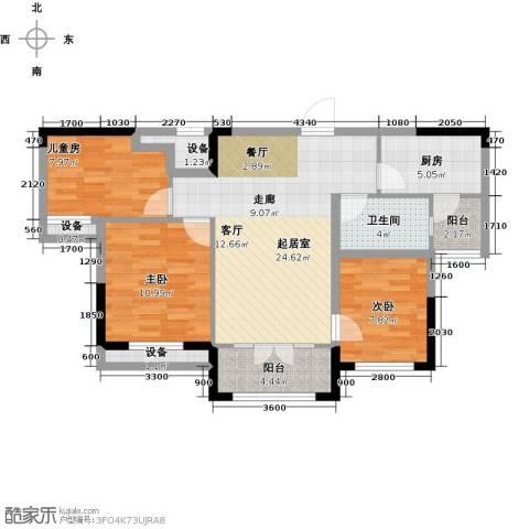 迁安碧桂园3室0厅1卫1厨92.00㎡户型图