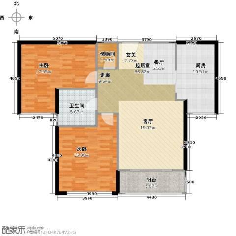 蓝顿浞河生活广场2室0厅1卫1厨105.00㎡户型图