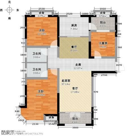 迁安碧桂园3室0厅2卫1厨131.00㎡户型图