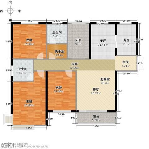 蓝顿浞河生活广场3室0厅2卫1厨150.00㎡户型图