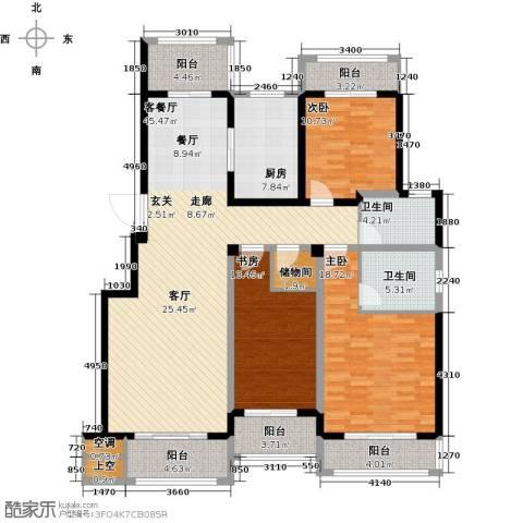 悦上海3室1厅2卫1厨150.00㎡户型图