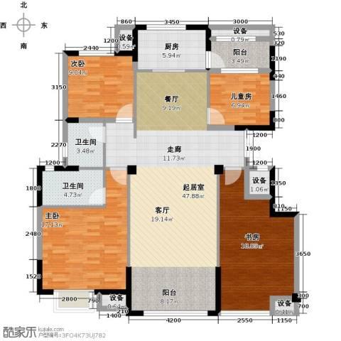 迁安碧桂园4室0厅2卫1厨143.00㎡户型图