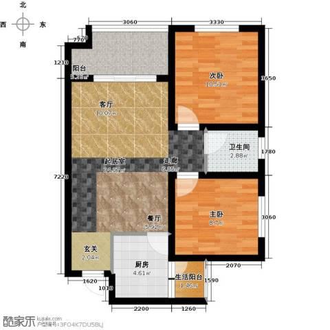 世豪广场2室0厅1卫1厨69.00㎡户型图