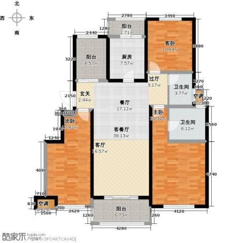 悦上海3室1厅2卫1厨141.80㎡户型图