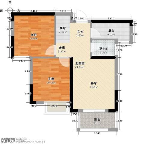 平安光谷春天2室0厅1卫1厨78.00㎡户型图