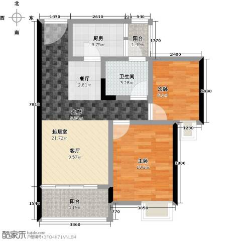 海悦湾2室0厅1卫1厨70.00㎡户型图