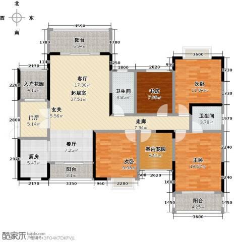领御玺台4室0厅2卫1厨180.00㎡户型图