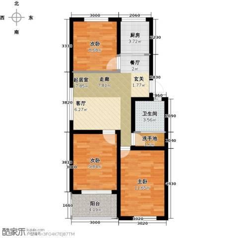 恒信阳光新城3室0厅1卫1厨100.00㎡户型图