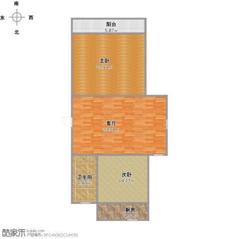 恒泰花园2室1厅1卫1厨122.00㎡户型图