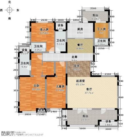 迁安碧桂园3室0厅4卫1厨229.00㎡户型图