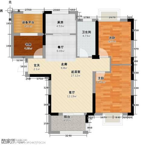 平安光谷春天3室0厅1卫1厨99.00㎡户型图
